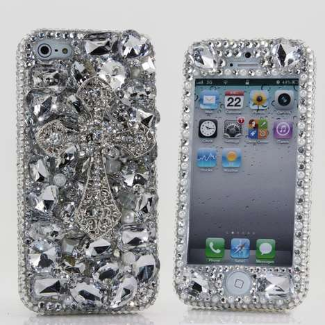 Excessively Encrusted Crystal Covers - This Swarovski Crystal iPhone Case is Covered in Jewels