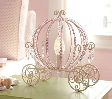 Opulent Princess Illuminators - The Carriage Table Lamp from Pottery Barn Kids is Cinderella-Chic
