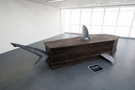 Awareness-Raising Shark Coffins - These Morbid Installations Come with Stats About Shark Poaching