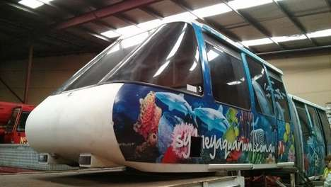 Repurposed Monorail Cars - Google's Sydney Offices Now House Old Monorail Cars as Meeting Area