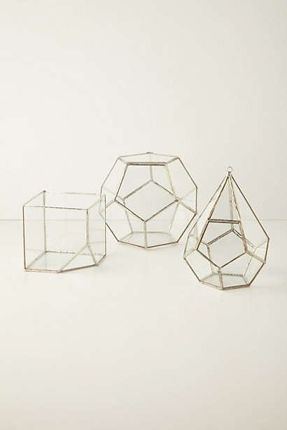 Geometric Gardener Essentials - The Terrarium Kit from Anthropologie is Decorative and Practical