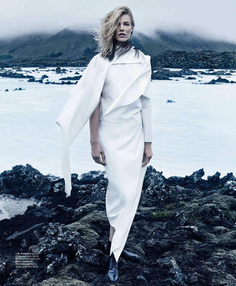Avant-Garde Seaside Portraits - The Out Of This World T Magazine Editorial is Architectural