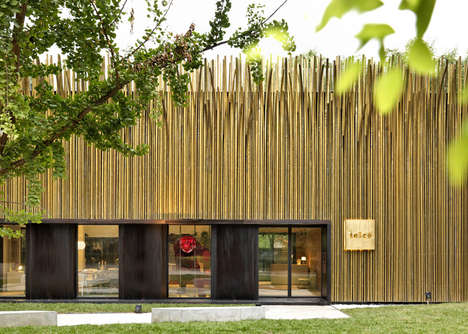 Bundled Grass Buildings - The Tales Pavilion Mimics a Section of Uncut Golden Field