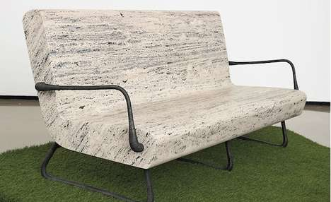 Solid Rock Seating - The Pompeii Sofa is Soft on the Eyes and Hard on the Backside