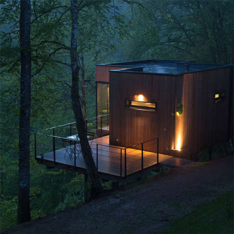 Secluded Cabin Architecture - These Les Cabanes de Salagnac Properties Fuse Urban Life with Nature