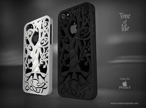 Flora-Themed Phone Cases - The Tree of Life Phone Case Complete the Apple Theme