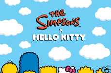Historic Kitty Cartoon Collaborations - Hello Kitty X the Simpsons Collection Announced for 2014