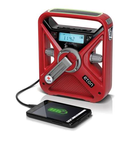 Life-Saving Radios - The Hand Crank Charger is a Radio, Emergency Distress Signal and Charger in One