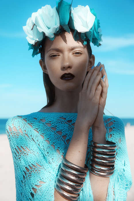 Beachside Bohemian Editorials - The Kasia Design Scene Exclusive is Ethereal and Serene