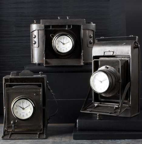 Vintage Camera Lens Clocks - These Vintage Camera Lens Clocks are an Epic Desk Accessory