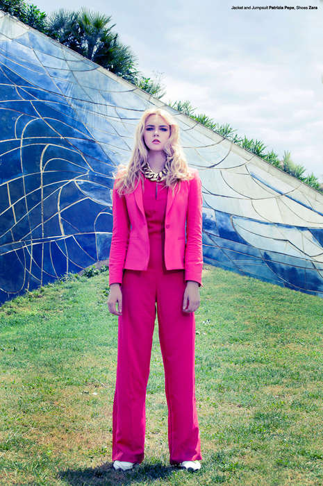 Chromatically Suited Editorials - The Beatrice Design Scene Exclusive Highlights Bold Office Attire