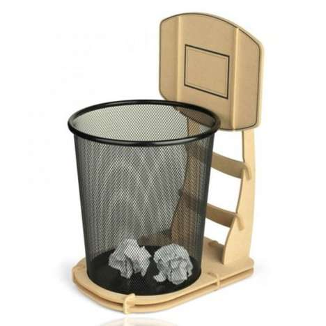 Three-Point Trash Baskets - Lay Up the Trash with the Basketball Waste Basket
