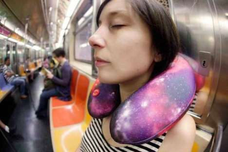 Galactic Neck Massagers - This Space Vibrating Neck Pillow is Perfect for Long Trips