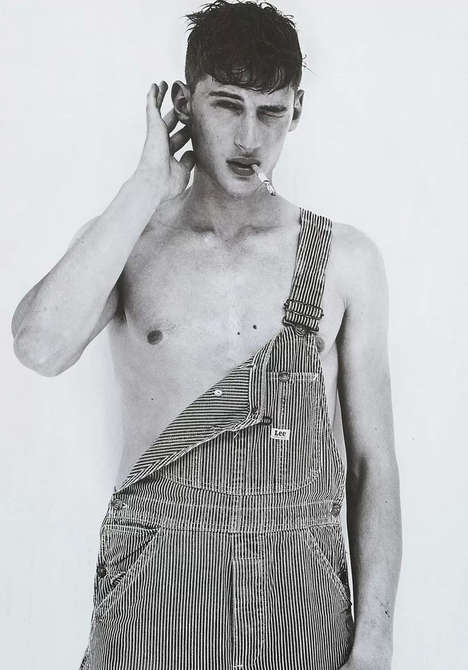 Retro Workwear Editorials - The Tino Thielens L'Officiel Hommes NL Fashion Story is Rugged