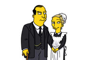 This Hilarious Tumblr Interprets Downton Abbey Characters as Simpsons