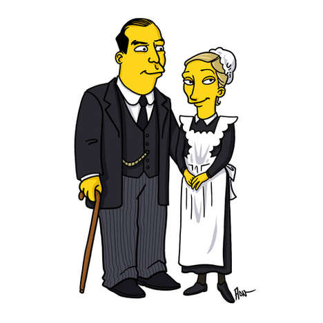 Cartoon Period Piece Mashups - This Hilarious Tumblr Interprets Downton Abbey Characters as Simpsons