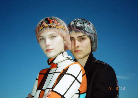 Graffitied Hair Marketing - The dot.COMME Oyster Editorial Embraces Eclectic Styling