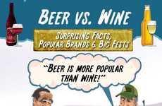 Battling Booze Infographics - This Infographic Examines the Popularity of Beer vs Wine