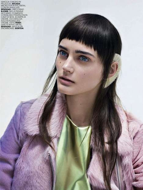 Cyber Street Style - This Marie Claire Editorial Features Metallic Clothing and Blue Hair