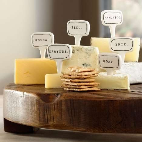Cheese Type Identifiers - These Reusable Ceramic Cheese Markers Help Guests Choose Cheeses