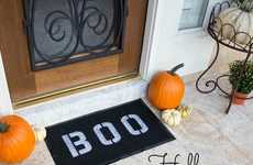 Spooky DIY Doormats - Add Some Typographic Decor to Your Home This Halloween with This DIY Guide