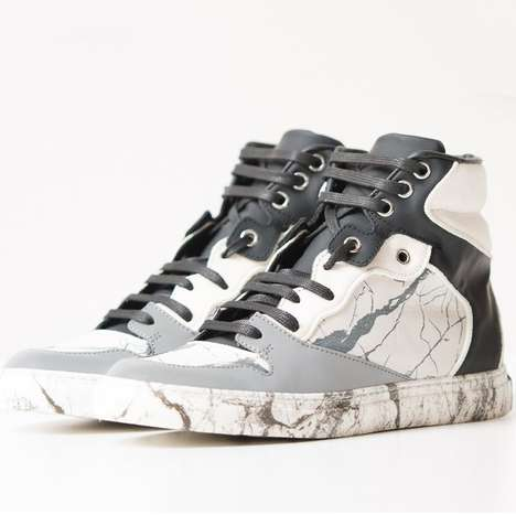 Mixed Material Marble Kicks - These Designer Sneakers Have Veins of Marble