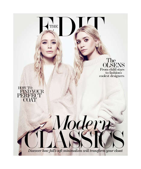 Monochromatic Twin Editorials - Mary-Kate and Ashley are All Grown Up for the Edit 17 October 2013