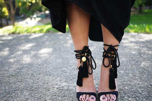 Add Tassels to a Classic Pair of Black Heels with This Fun DIY Guide