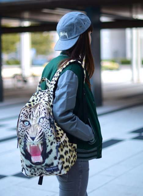 Fierce Feline Backpacks - Turn Heads with this Growling Leopard-Print Backpack