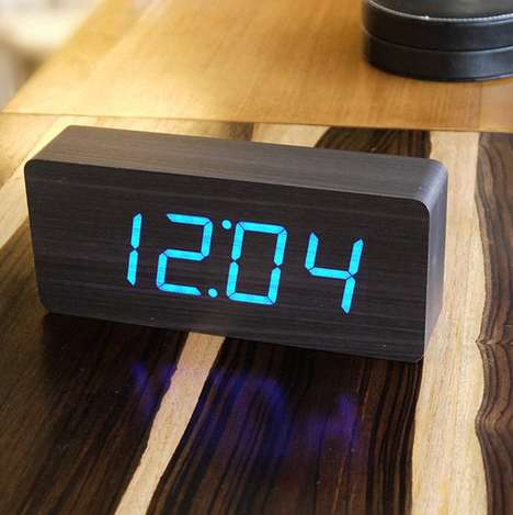 Solid Slab Alarm Clocks - This Solid Piece of Wood is Actually an Alarm Clock