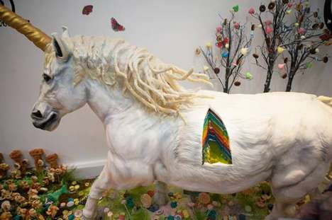 Unicorn Rainbow Layer Cakes - This Life-Sized Creature was Conceived for National Baking Week