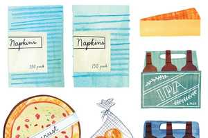 Marisa Seguin Draws What People Consider to be Essential Groceries