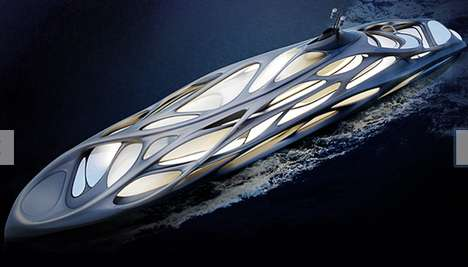 Organic Architectural Yachts - Zaha Hadid's Luxurious Yacht Design Takes Cues from Biology