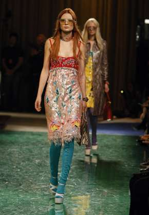 Eclectic Bohemian Attire - Miu Miu's Hippie-Inspired Collection is an Update on Flower Child Fashion