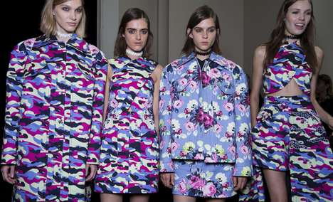 Clashing Print Sportswear - Carven's Spring Runway Collection Features Bold Camouflage Fashions