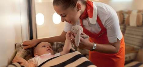 In-Flight Childcare Services - Etihad Airways Flying Nannies Make It Easier for Parents to Fly