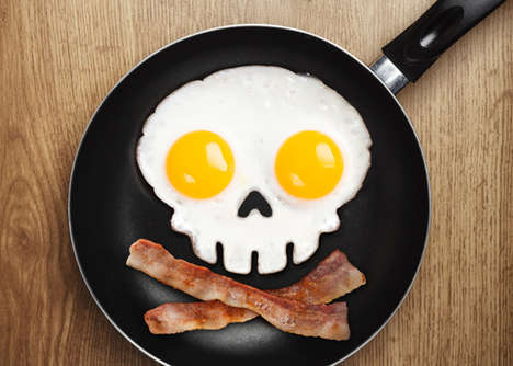 Skeletal Egg Shapers - The Skull Egg Shaper by Fred & Friends Makes a Frightful Breakfast