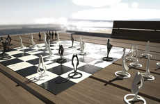 Statuesque Game Pieces - The Pandov Chess Set Has Been Infused with Symbolism Through Sculpture