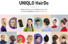 Fashion-Promoting Hairstyle Pinboards - The 'UNIQLO HairDo' Pinterest DIYs Match Its Latest Fashions