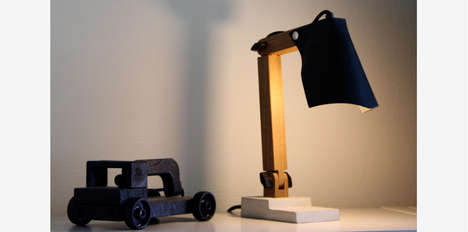 Concrete-Footed Fixtures - The BigFoot Lamp Has a Heavy Bottom and an Industrial Yet Elegant Look