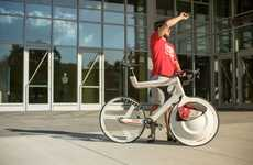 Wheel-Embedded Bike Baskets - The Transport Commuter Bike Accommodates Any Bag in its Spinning Cubby