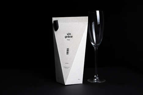 Origami Beverage Branding - Vin Grace Wine Packaging Revamps Vino with a Cool and Casual Image