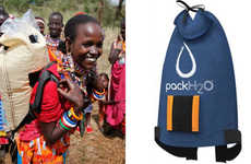 Sunlight-Sterilized Water Backpacks - The Sun Provides Water Sterilization for the 'PackH2O'