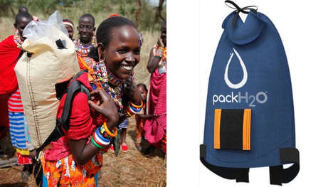 Sunlight-Sterilized Water Backpacks - The Sun Provides Water Sterilization for the