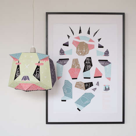 Colorful Panda Light Covers - These DIY Lampshades from Mostlikely Double as Works of Animal Art