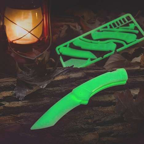Glow-in-the-Dark Blades - This Glow in the Dark Knife Kit is a Fun Twist to a Kitchen Must-Have