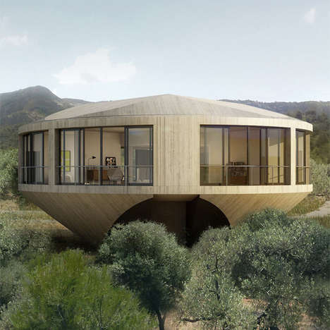 Spheric Summer Homes - The Round House by Solo Architects is a Posh Circular Pad