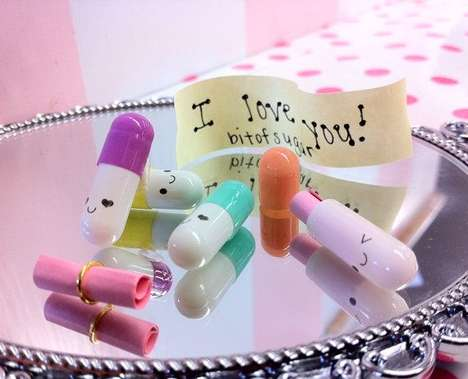 cute, pill, Kawaii, message, note, happy