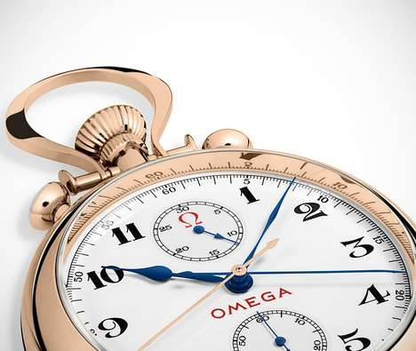Olympic-Inspired Timepieces - The Olympic Pocket Watch 1932 Revives an Important OMEGA Watch Design