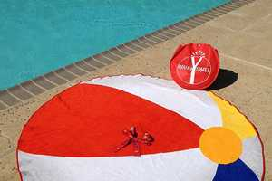 Fancy's Vibrant Beach Towel is Designed to Resemble a Beach Ball